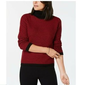 Karen Scott PM Bright Red Pullover Sweater 4AA22